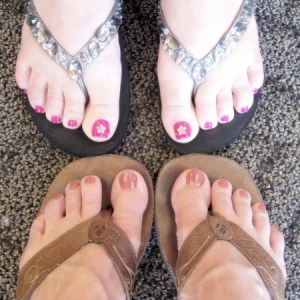 #pedicured toes