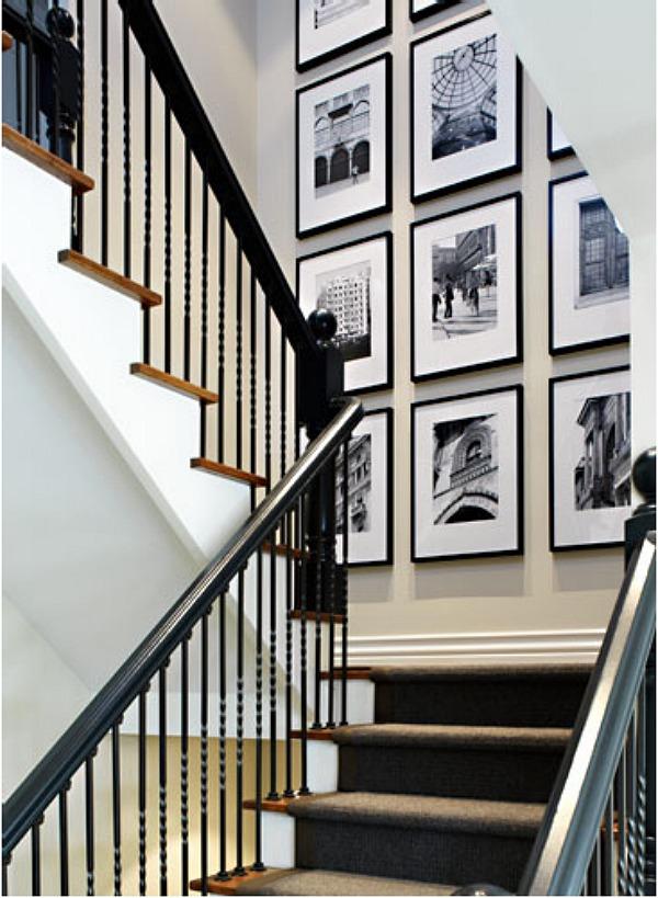 #stairway landing gallery wall