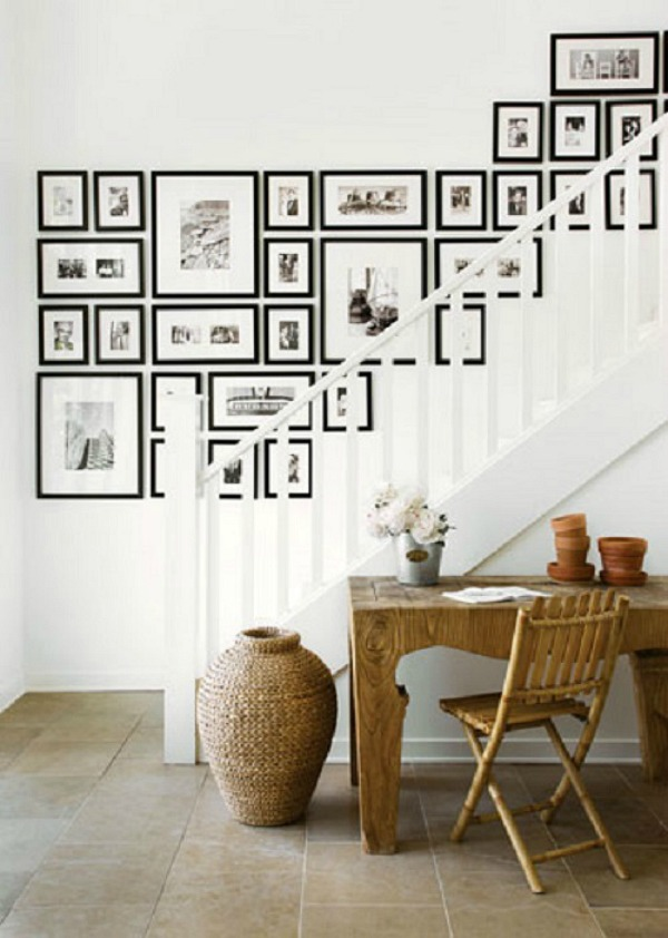 #stairway wall gallery