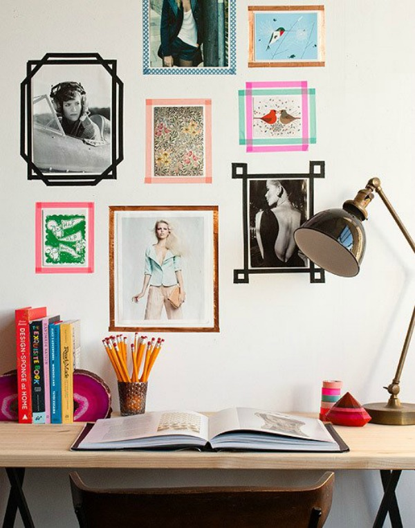#washi tape gallery wall