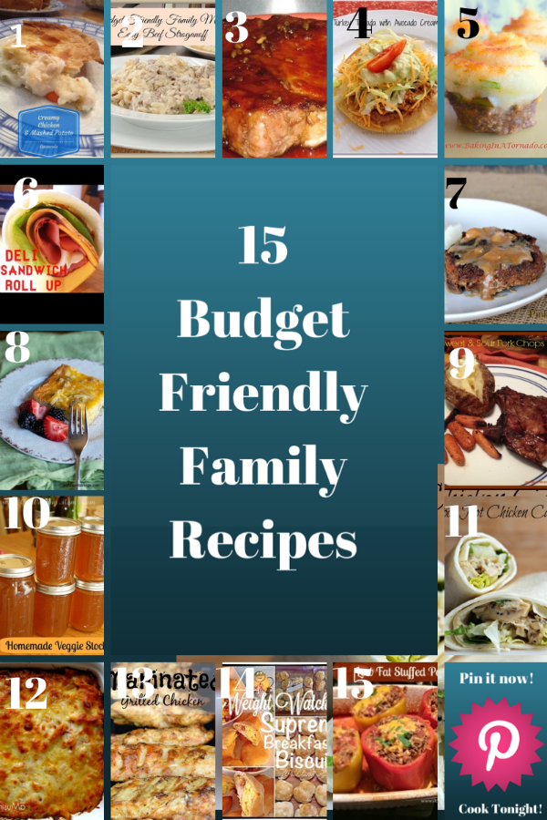 #15 Budget Friendly Family Recipes