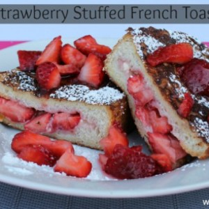 #strawberry stuffed french toast