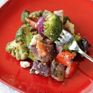 grilled broccoli and onion salad