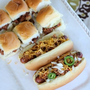 Manwich Dogs and Mini Sloppy Joes
