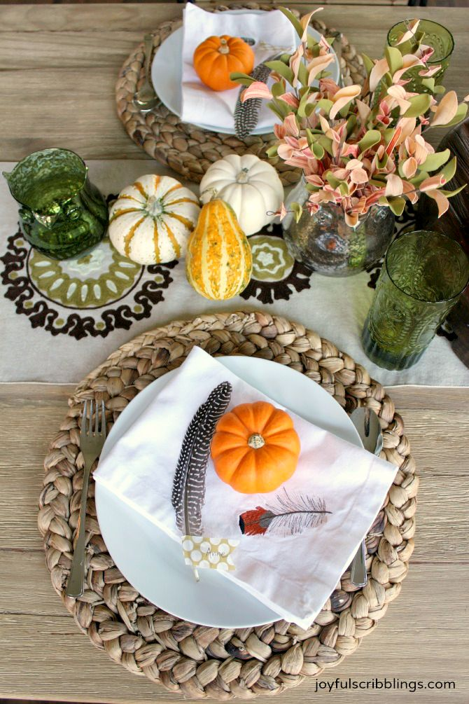 & An Owl Themed Fall Table Setting - JOYFUL scribblings