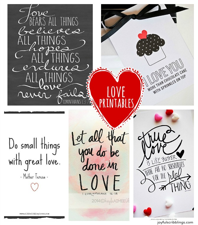 graphic about Free Printable Love Quotes identified as 5 Cost-free Printable Delight in Estimates - Delighted scribblings