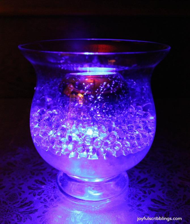 glowing ice decor