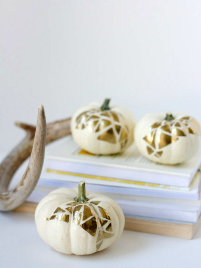 gold geometric pumpkins