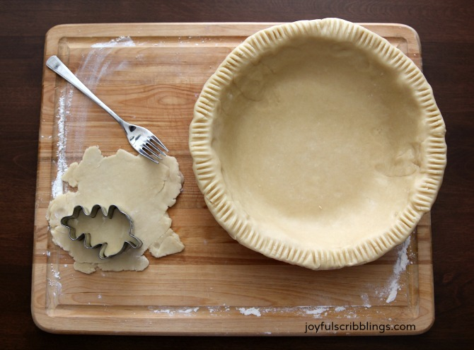how to make pie crust from scratch without food processor