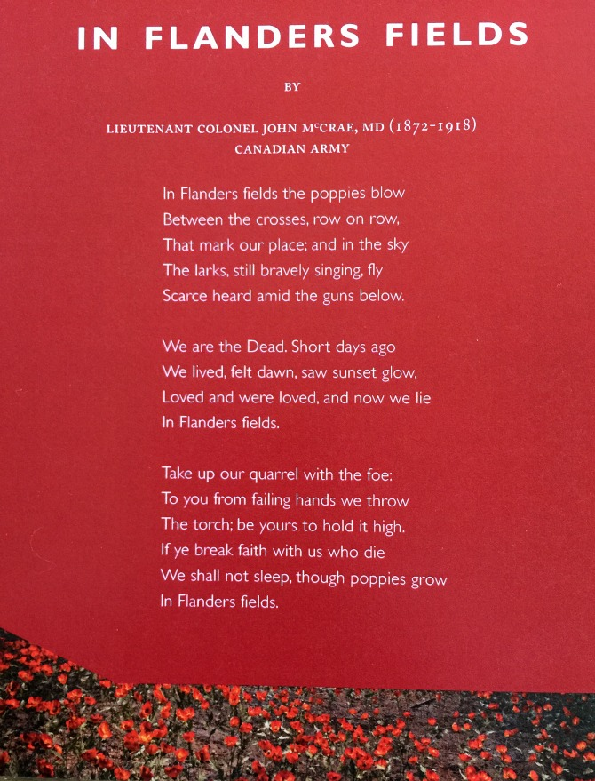 Poem In Flanders Fields