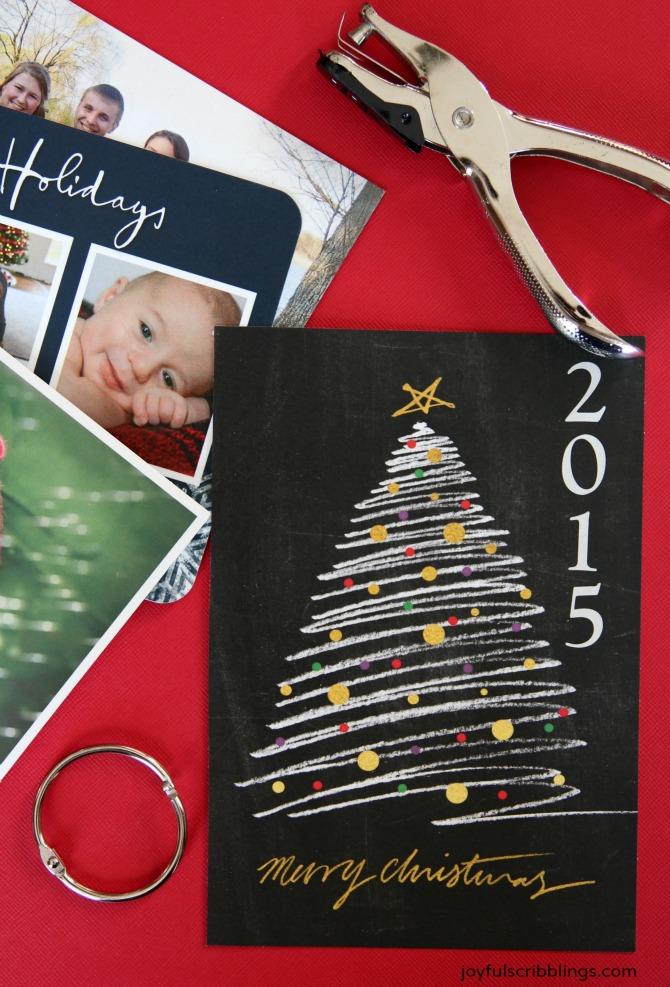 Diy Christmas Card Scrapbook Joyful Scribblings