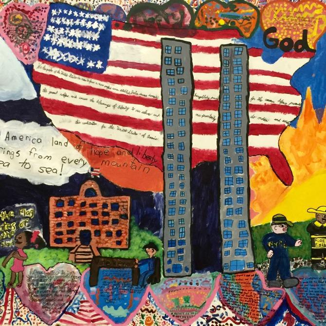 mural at 911 memorial