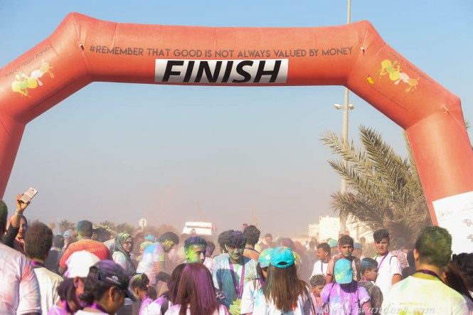Ajman Color Run Finish Line