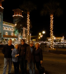 Christmas in St. Augustine. Jack, GrandMary, Jackson, GrandFloyd and Joy.