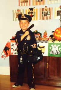 "...but by 1997 he found out he could pick any costume... so I am proud to say the really wanted to be a ""Police Office""!"