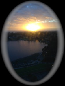 Sunrise over Lake Mirror