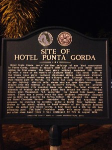 The historic Hotel Punta Gorda, the original three story hotel featured rooms with a view of Charlotte Harbor.
