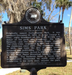 Sims Park historic marker side 2.