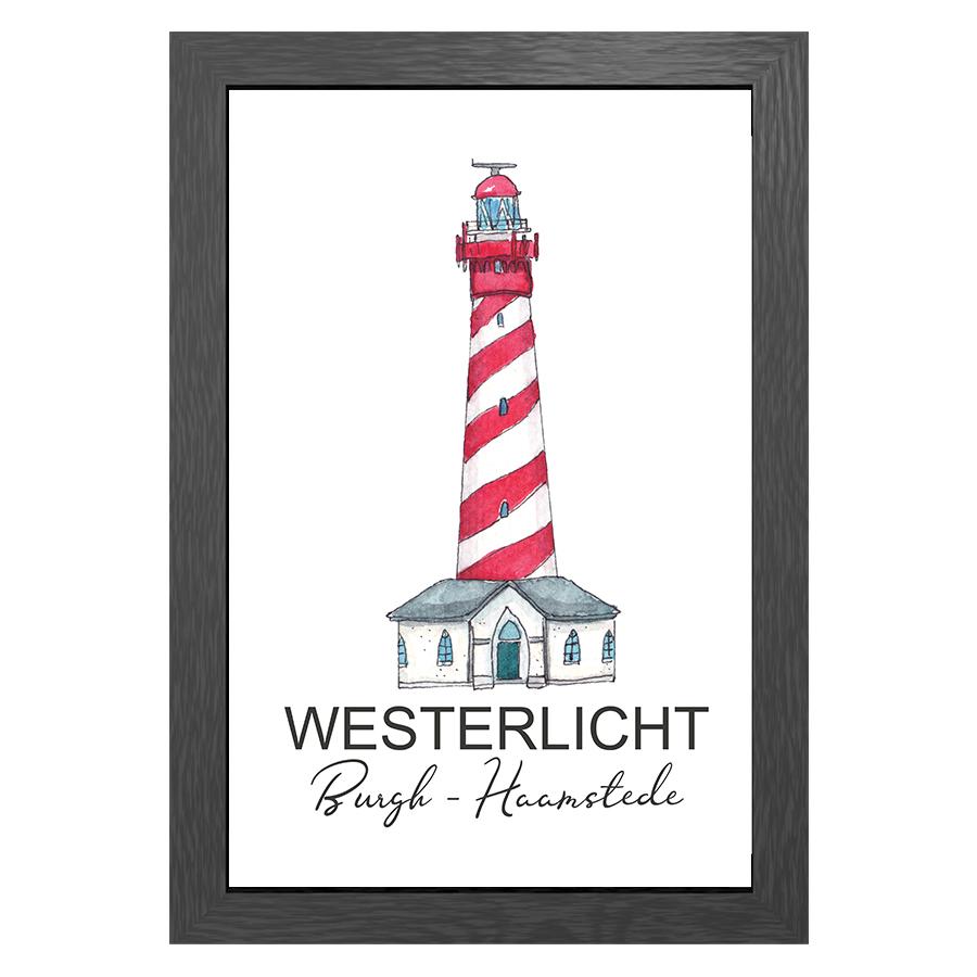 A3 POSTER LIGHTHOUSE BURGH-HAAMSTEDE WESTERLICHT