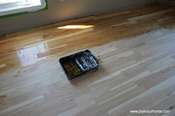 Our Journey in Refinishing Hardwood Floors at www.joyinourhome.com