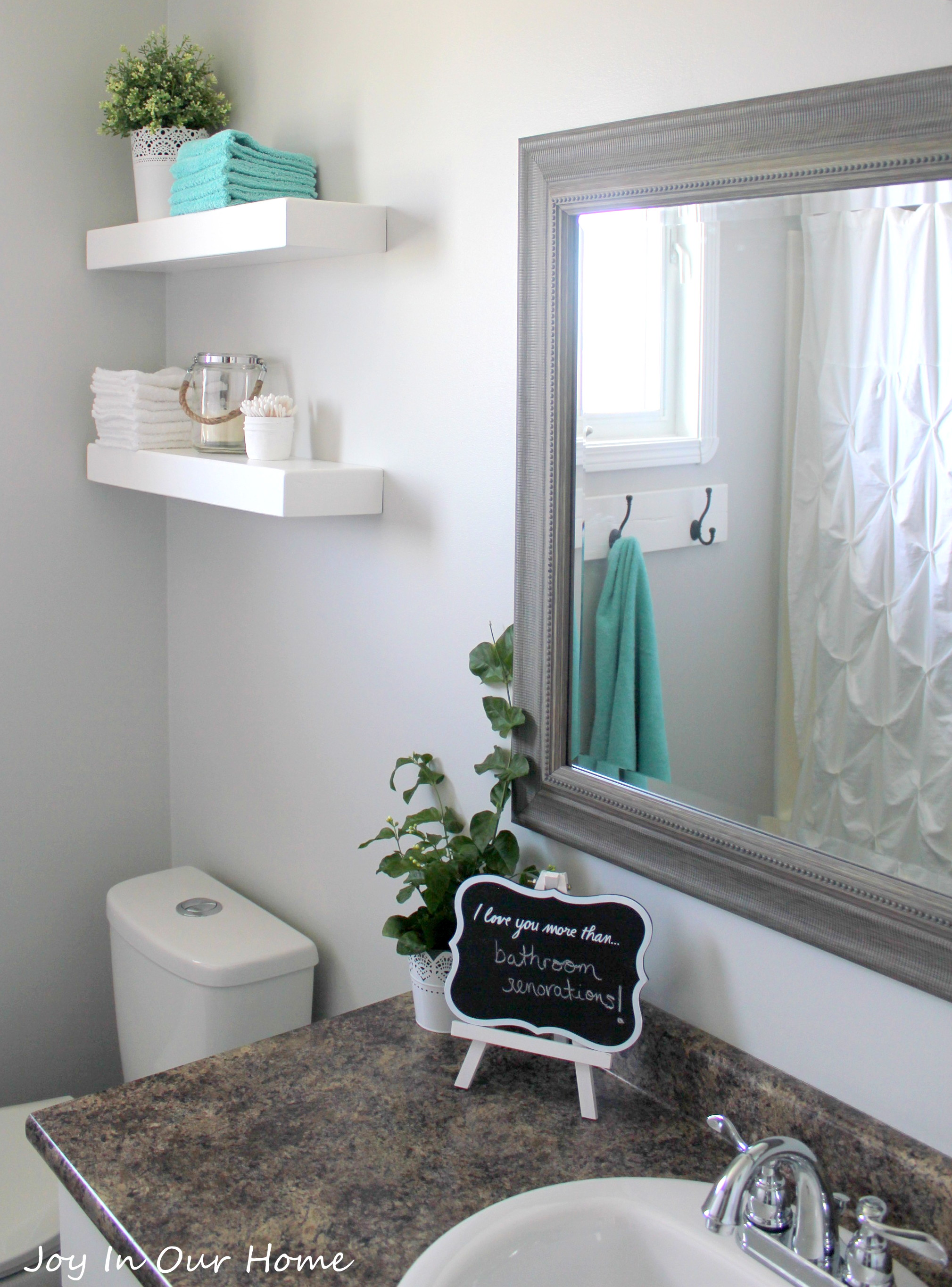 Our Bathroom Makeover Product Source | Joy in Our Home on Apartment Small Bathroom Decor Ideas  id=53015