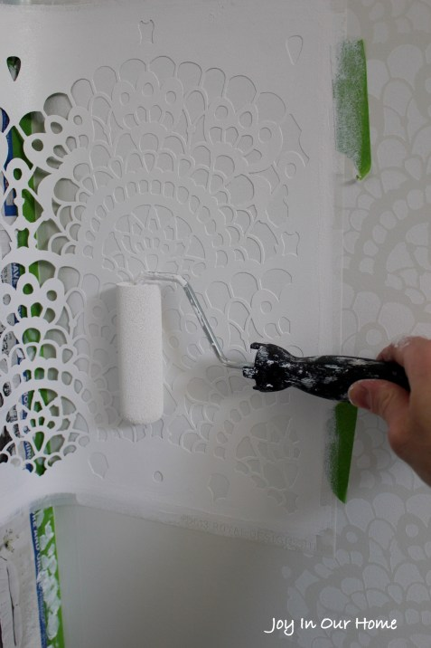 Spanish Lace Stenciled Wall