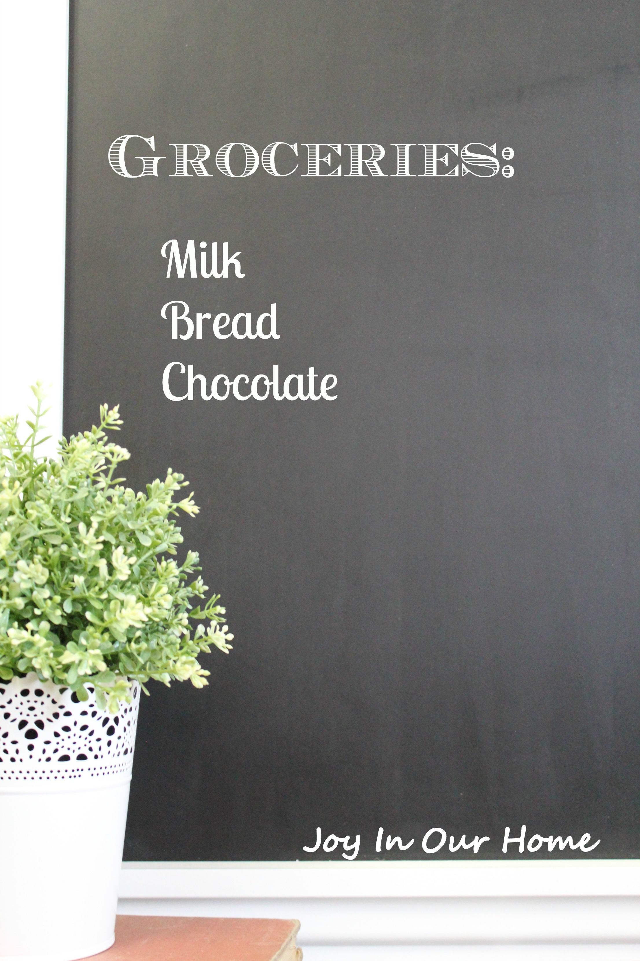 Chalkboard In Kitchen Framed Chalkboard For The Kitchen Joy In Our Home