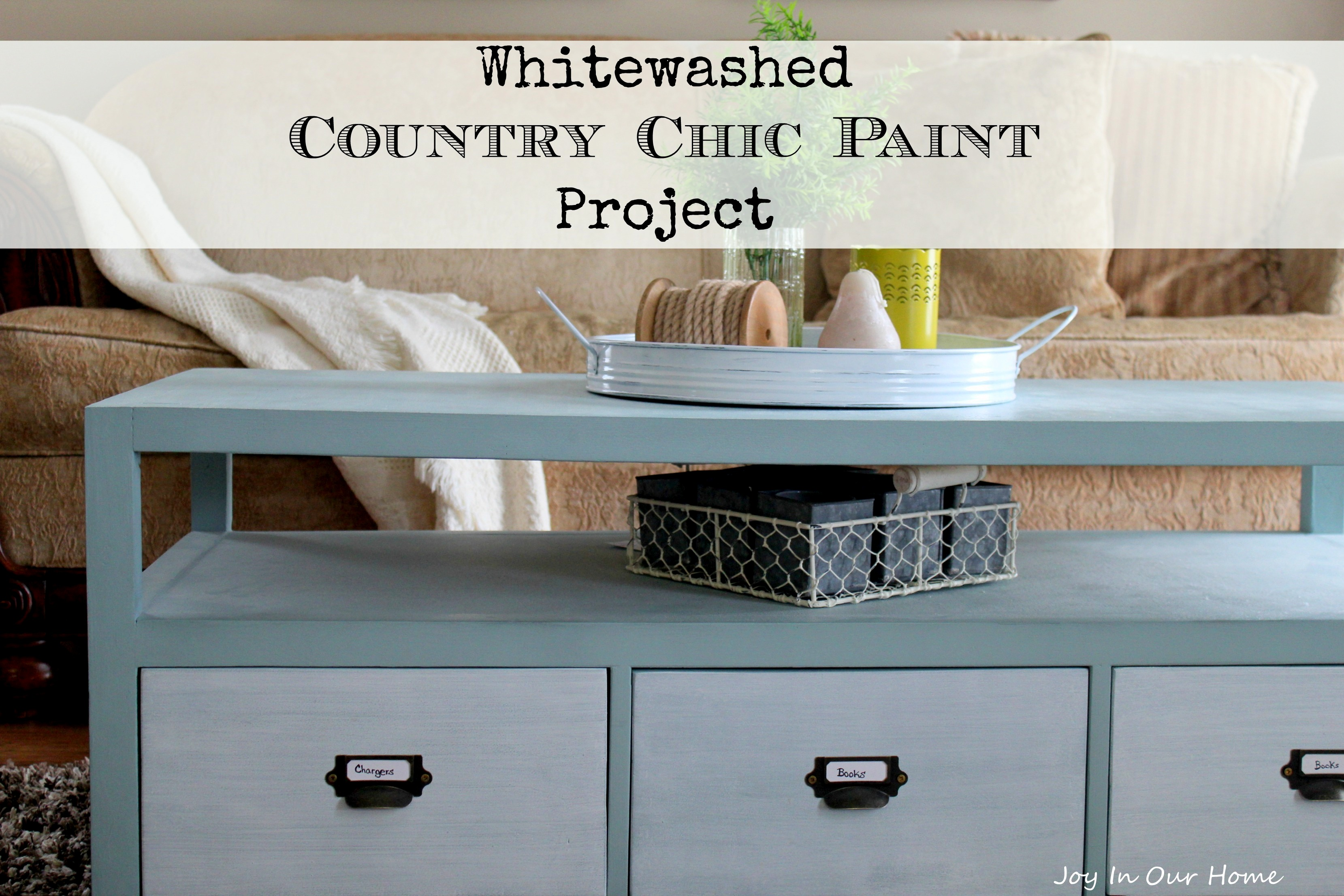 Whitewashed Country Chic Paint Project