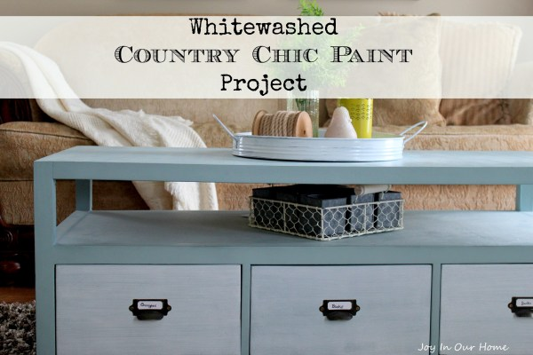 Whitewashed Country Chic Paint Project from www.joyinourhome.com