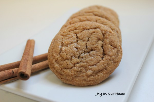 Soft and Chewy Gingersnap Cookies at www.joyinourhome.com
