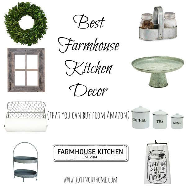 The Best Farmhouse Kitchen Décor On Amazon