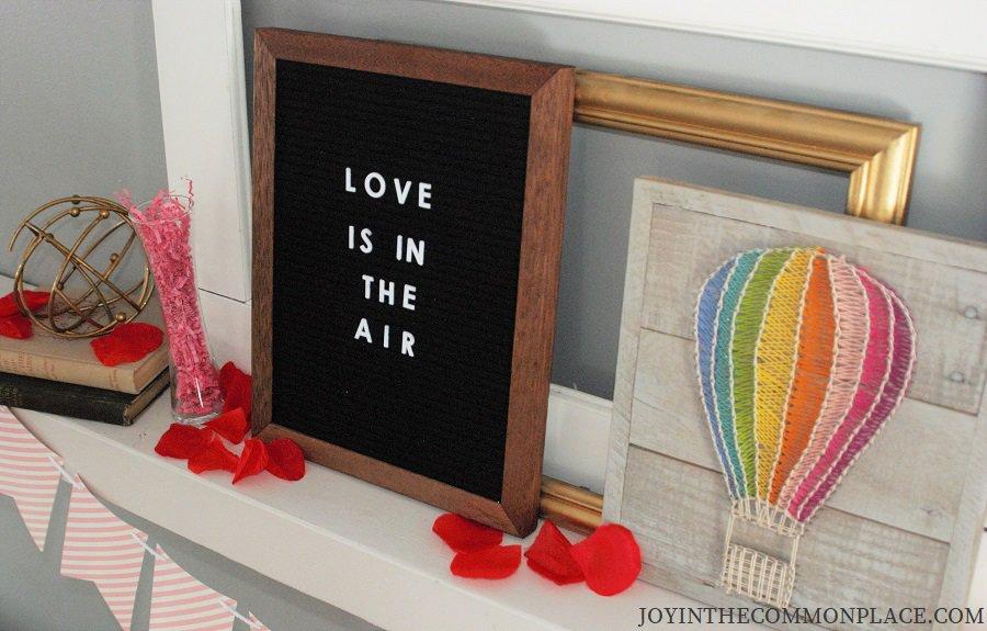 Felt Letter Board & Hot Air Balloon Sign
