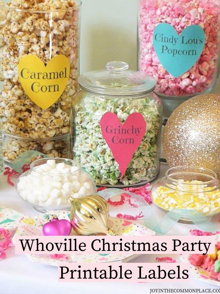 Whoville Themed Party Printables