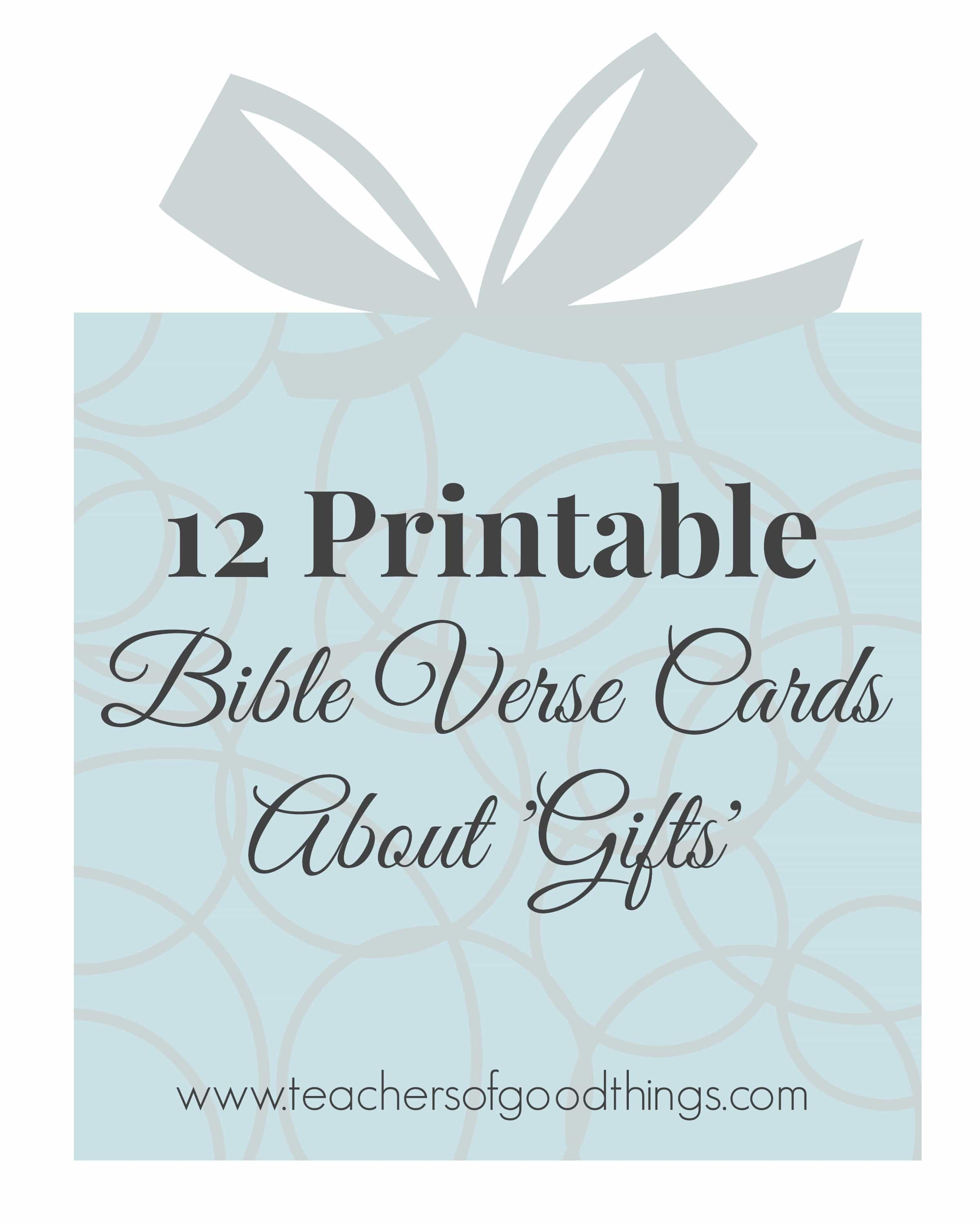12 Printable Bible Verse Cards About Ts