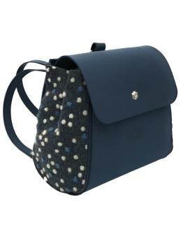 Joy-zaino-componibile-vegan-made-in-italy-roberta-blu-pois-blu-material