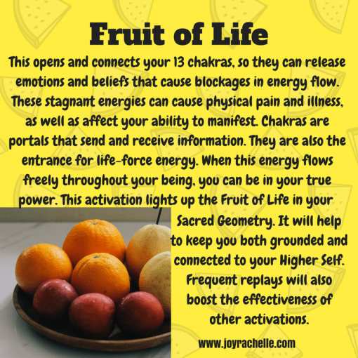 Fruit of Life Sacred Activation