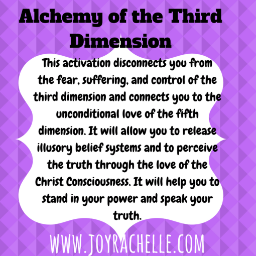 Alchemy of The Third Dimension Sacred Activation