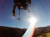 Tandem Acrobatikflug mit dem Gleitschirm