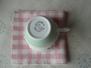 tea cup and fabric