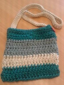 crochet stripy summer bag Natura XL