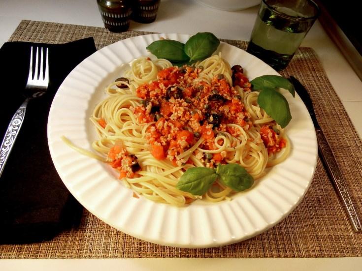 vegan pasta puttanesca recipe