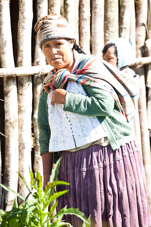 Bolivian mom and her baby