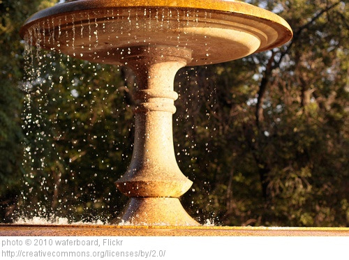 fountain overflowing