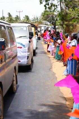 parade of cars in Sri Lanka