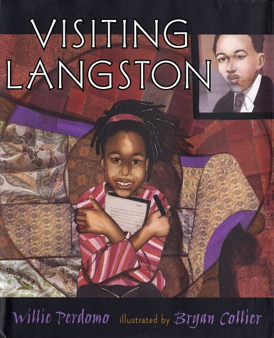 book cover of Visiting Langston by Willie Perdomo, illustrated by Bryan Collier