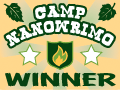 badge for Camp NaNoWriMo winner