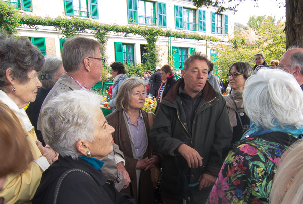 Head gardener, James Priest, at Giverny