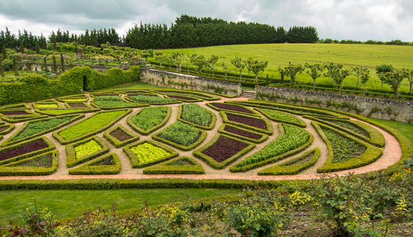 photo of shaped gardens at  La Chatonniere