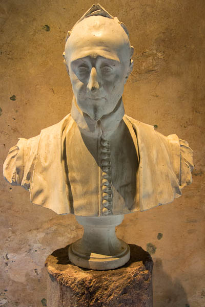 The bust of Pierre de Ronsard