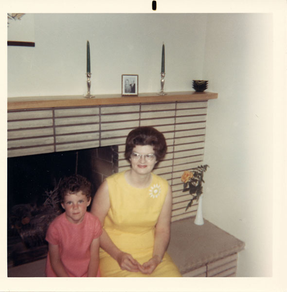 Little girl and her mother in 1968